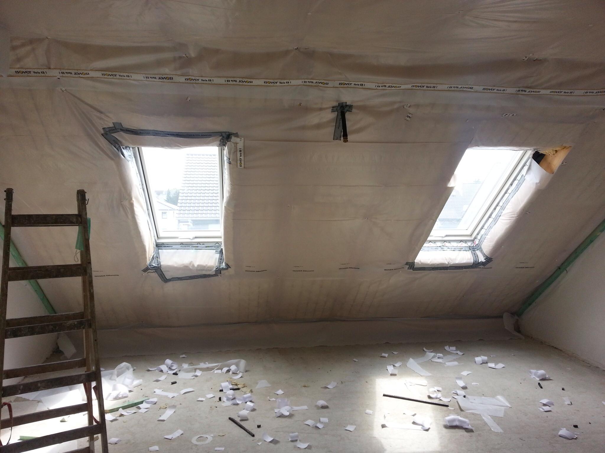 Die Dachdämmung